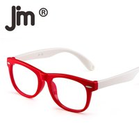 ingrosso ragazzi bicchieri blu-JM Kids Blue Light Blocking Glasses Bambini Anti Eyestrain Eyewear per computer, telefoni, TV, videogiochi per ragazze