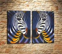 ingrosso tela di stampa zebra-Zebra, Canvas Canvas Home Decor HD Stampato su tela Modern Art (senza cornice / con cornice)