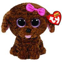 boo bebeği toptan satış-Ty Bere Boos 6 '' Yay ile 15 cm Maddie Kahverengi Köpek Peluş Düzenli Doldurulmuş Hayvan Koleksiyonu ile Bebek Oyuncak