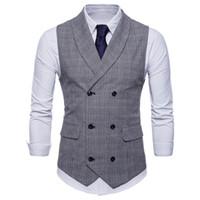 erkekler gömleklik gömlek satışı toptan satış-2018 sıcak satış patlamalar İngiliz rüzgar iş yelek erkek moda ince rahat ekose gömlek