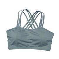 tanque de racerback de ioga venda por atacado-Mulheres Esportes Sutiã Workout Yoga Fitness Stretch Tracote Sem Costura Racerback Acolchoado