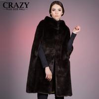 Wholesale ladies mink fur coats - Brand New 2018 Plus Size Women Clothing 4XL 5XL Winter Black White Luxury Artificial Mink Fur Coat For Ladies Faux Fur Coats