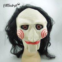 masken-killer-film großhandel-Halloween Party Tidy Erwachsene Latex Scary Maske Full Face Gesichts Atmungs Kettensäge Killer Film Mit Der Gleichen Kleid Horror Maske