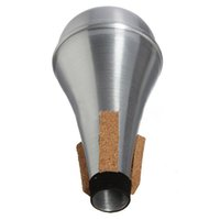 Wholesale jazz music for sale - Group buy 2 of Practice Trumpet Straight Mute aluminum for Trumpets Jazz Music