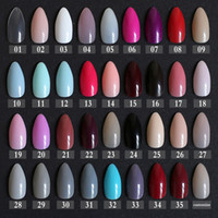Wholesale Pointed Nail Tips - New False Short Rose Pointed Soft Pink Nude Red Brown Blue fake stiletto nails full cover Pure colour candy Purple Khaki White