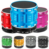 Wholesale cheap quality computers online - Metal Mini Wireless Speakers Cheap High Quality Outdoor Bluetooth Speaker Support TF Card Answer Call Car Music Player Update SC208