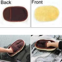 Wholesale car care wholesale - Car Care Cleaning Brushes Polishing Mitt Brush Super Clean Wool Car Wash Glove Soft Care Cleaning Tool EEA130