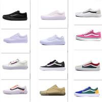Wholesale black wall lighting - Best Vans Sneakers Old Skool off the wall low-top MEN'S WOWEN'S Skateboarding Shoes CLASSICS Unisex Sports canvas Shoes Sneakers 35-44