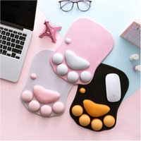 laptop cute wholesale-Newest 3D Cartoon Mouse Pad Cute Cat Claw Thickening Laptop Wrist Rest Protection Pad Silicone Anti-skid Mice Pad Office Support Mat