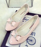 Wholesale Pink Nurse Dress - Women's Little Pea Bean Shoes Spring Bow Flat with Flat Nurse Nurse Maternal Shoes LEIKUAN