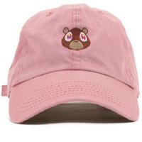 кожаные футбольные кепки оптовых-2018 Kanye West Ye медведь папа шляпа прекрасный бейсболка лето для мужчин женщин Snapback шапки унисекс эксклюзивный релиз