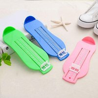 Wholesale Feet Measures - Child Shoes Size Measuring Ruler Tool Multi Color Plastic Infant Foot Measure Gauge 3 9bd C R