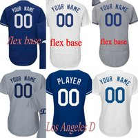 Wholesale D 35 - 2018 60th Anniversary patch Men's women youth Los Angeles D Custom any name number 35 Cody Bellinger Flexbase Baseball Jersey stitched
