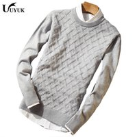 Wholesale unlined shorts - 2018 Autumn New Fashion Casual Men's slim fit woolen Sweater men Round Rendering Knitting Unlined Upper Garment Man
