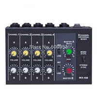 Wholesale Mixer Channel - Professional 4   8 Channel Audio Mini Mixer effect reverberator 1 4 Power by Battery or DC multifunction