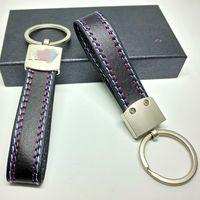 Wholesale bmw x5 e53 online - PU Leather Belt Chrome Keyring Keychain Key Chain For BMW M Sport E46 E39 E60 F30 E90 F10 F30 E36 X5 E53 E30 E34 X1 X3 Good Quality