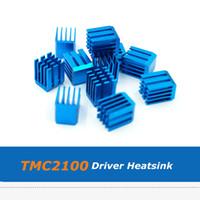 Wholesale 3d printer drivers online - 15pcs Blue Aluminum Cooler Heatsink For TMC2100 TMC2130 TMC2208 Stepper Motor Driver D Printer Parts