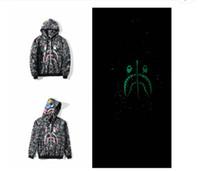 Wholesale cardigan sweater vest men - Autumn sweater luminous Star Shark long-sleeved hooded jacket hip-hop men's sweater cardigan hoodies sports and leisure street hoodies