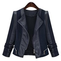 plus größe frauen oberbekleidung großhandel-Casaco Feminino Plus Size 5xl 2018 Herbst Damen PU-Ledermantel Female Slim Short Leder Motorradjacke Damen Oberbekleidung
