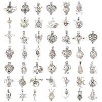 ingrosso pendenti di aromaterapia-Ciondolo ciondolo perla d'argento-aggiungere il proprio mix di perline 60 ciondoli ciondolo medaglione diffusore d'olio essenziale aromaterapia 60 per fare gioielli