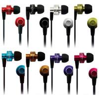 şık cep telefonları toptan satış-Awei ES900i Kulak Metal Kulaklık mic ile düz kablo Stereo Süper Bas Şık ses Gürültü izolasyon kulaklık cep telefonu için ipad