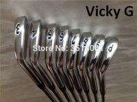 ingrosso club di marca-VickyG Golf Clubs 714 A2 Set Ferro New Golf forgiato Ferri 3-9P R / S-Flex Steel / Albero grafite con coperchio frontale Spedizione DHL