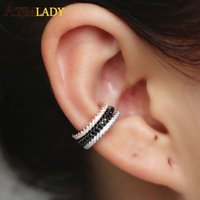 Wholesale circle earrings 925 sterling for sale - Group buy Ear Cuff Micro Pave Cz Circle Cuff Sterling Silver Mix Three Color No Pierced Stack Small Sized Little Girl Earring Cuff New