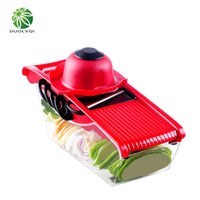 Wholesale Onions Peeler - Duolvqi Mutifunctional Vegetables Cutter Blade Carrot Grater Onion Dicer Slicer Stainless Steel And Abs Kitchen Tools