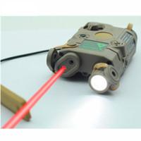 laser à lumière tactique achat en gros de-Chasse lampe de poche AN-PEQ-15 version mise à jour tactique LED lumière blanche + laser rouge avec des lentilles IR pour la chasse tournage