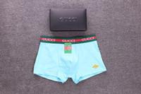 Wholesale boxers resale online - Fashion Designer Mens Underpants Brand Boxers with Letters Animal Print Appliques Cool Mens Breathable Underwear Color Available