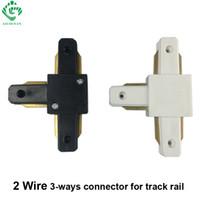 Wholesale T Type Connector - GO OCEAN Track Lighting T-type connector track rail connector three-way aluminum rail