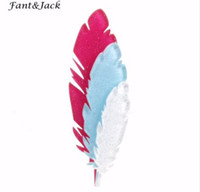 Wholesale african feather hat - Fant&Jack original products pin brooch men and women manual feather Brooches Women Hats Scarf Suit Brooch Clothes Buckles