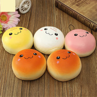 Wholesale baby cell phone toys resale online - Gag Jumbo cm Smile Marshmallow Bun Squishy Phone Charm Squishy Pendants Baby Toys Phone Straps For Cell Phone Decoration