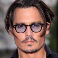 очки johnny оптовых-REALSTAR супер звезда мода Джонни Депп стиль солнцезащитные очки Мужчины Женщины дизайнер старинные круглые солнцезащитные очки Очки оттенки Oculos S553