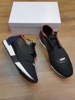 chaussures de marque achat en gros de-2018 Paris DESIGNER SNEAKERS Chaussures de sport Hommes HOMMES SPORTS MARQUEURS AIGUILLES Respirant Daily Footwear Défilé de mode Robe Tennis