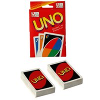 Wholesale hot funny games - HOT SALE Entertainment Card Games UNO cards Fun Poker Playing Cards Family Funny Board Games Standard OTH065