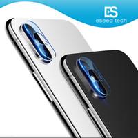 iphone objektive pakete großhandel-Für iphone XR XS MAX X Objektiv ausgeglichenes Glas 2.5D Film-Kamera-Objektiv-Schirm-Schutz-rückseitige Abdeckungs-Glas mit Kleinpaket