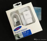 adaptateur de voyage de mûre achat en gros de-Pour Samsung S6 S7 Edge Note 4 5 8 9 Chargeur rapide Adaptateur de voyage US Galaxy S 6 S 7 s8 s9 plus 9V1.67A 1m Câble USB Chargeur Adaptatif