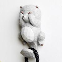 ingrosso muro di kawaii-Staygold in silicone Kawaii gancio decorativo appeso a parete accessori decorazione della casa animali scultura a parete decorazione del giardino artigianato in resina