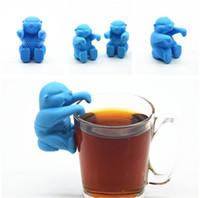 mr araçları toptan satış-Serin Adam Çay Demlik Mr Silikon Gevşek Yaprak Süzgeç e Gadget Mutfak Aletleri Çay Süzgeç Filtre Difüzör çay demlik IB711