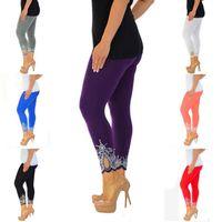 Wholesale warm leggins - Women's Fashion Leggings Printed Trousers Casual Leggins Warm Winter Slim Super Elastic Legging