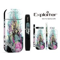 Wholesale Factory Stickers - Factory OEM Sticker For IQOS OEM Wrap For IQOS Box Mod Customized Paper Cover Sticker Electronic Cigarette Accessory Skin For IQOS Vape Mods