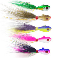 Wholesale mix artificial bait - Fishing accessories Mixed Colors Artificial Fishing Bait With Feather Fishing Tackle Hard Lure Fishing Hook