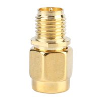 Wholesale coaxial cable plug - wiring For RF Coaxial Cable Gold Plated Color RP SMA Female to SMA Male Straight Mini Jack Plug