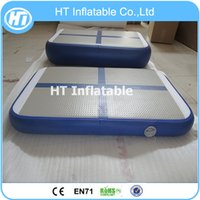 Wholesale air track resale online - x0 x0 m Blue Color Gym Training Inflatable Gymnastics Air Block Air Track for Sale