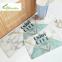 Wholesale pvc room floor mat resale online - Nordic Style Long Kitchen Waterproof Carpet Floor Mat Living Room Hallway Rugs PVC Anti Slip Entrance Door Mats Doormat Home