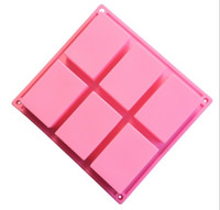 Wholesale silicone soap forms for sale - Group buy 6 Hole Mold D Handmade Square Rectangle Silicone Soap Form Chocolate Cookies Mold Fondant Tools