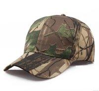 hızlı kurulama kapağı toptan satış-Toptan Açık Çabuk kuruyan Şapka Orman Yapraklar Kamuflaj Anti-terörizm Sniper Kap Erkekler Kadınlar Beyzbol Şapkası