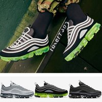 Wholesale Body Spikes - 2018 Newest Vapormax 97 Mens Running Shoes OG Japan Silver Gold Bullet Triple White Black For Men Sports Casual Sneakers Size US 8-11