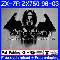 ingrosso kawasaki zx7r nero-Corpo per KAWASAKI NINJA ZX 7R ZX750 ZX7R 96 97 98 99 203HM7 nero caldo ZX-750 ZX 7 R ZX750 ZX-7R Nero opaco 1996 1997 1998 1999 2003 Carena